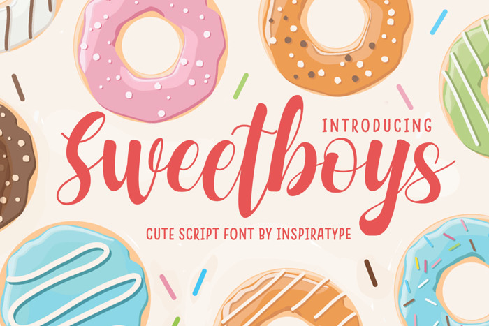 Sweetboys Font poster