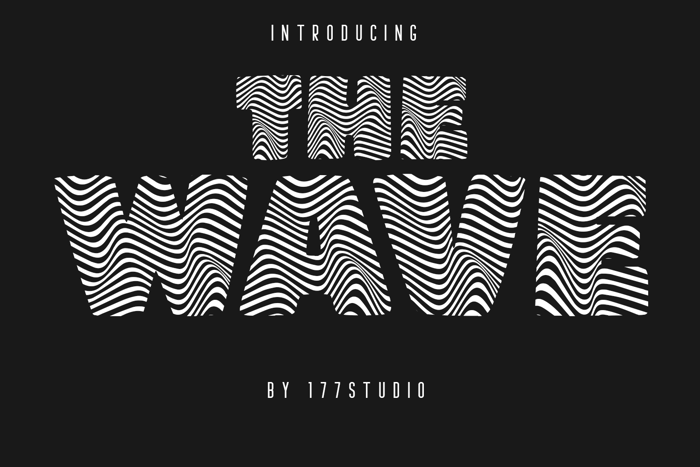 THE WAVE Font poster