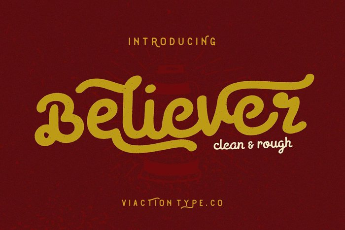 Believer Font poster