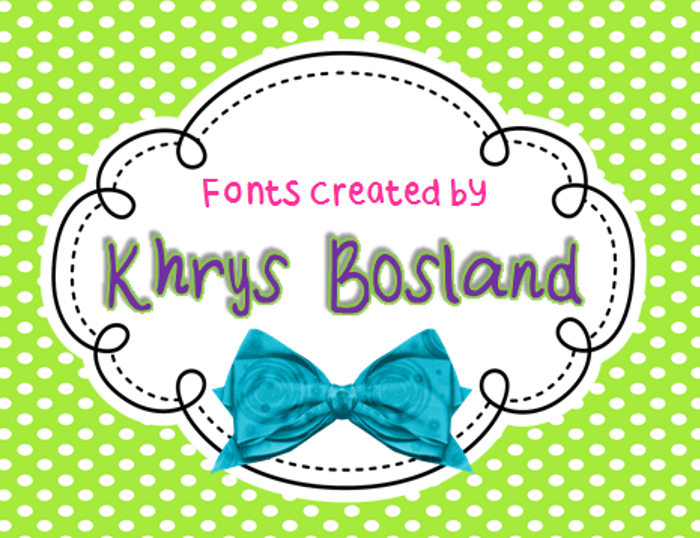 KBBlockParty Font poster