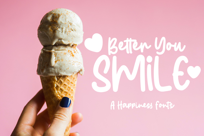 Better You Smile Font poster