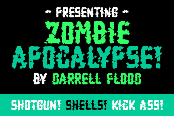 Zombie Apocalypse Font poster