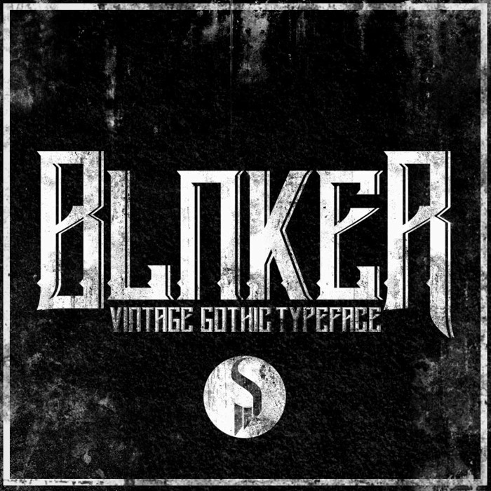 Blnker Font poster
