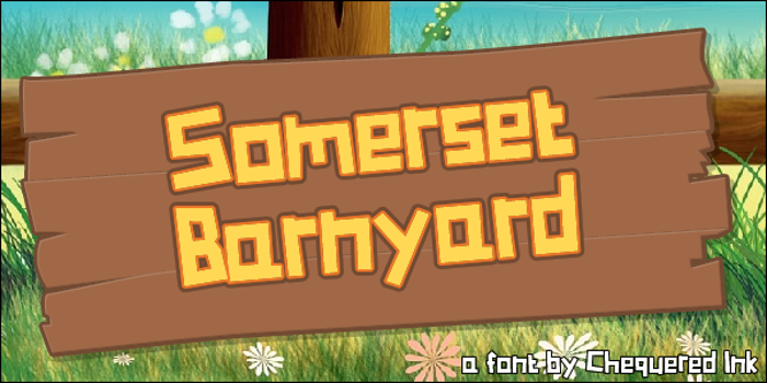 Somerset Barnyard Font poster