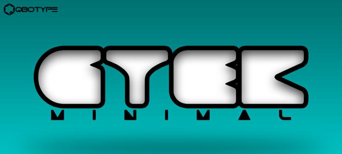 Gtek Minimal  Font poster