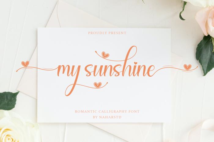 My Sunshine Font poster
