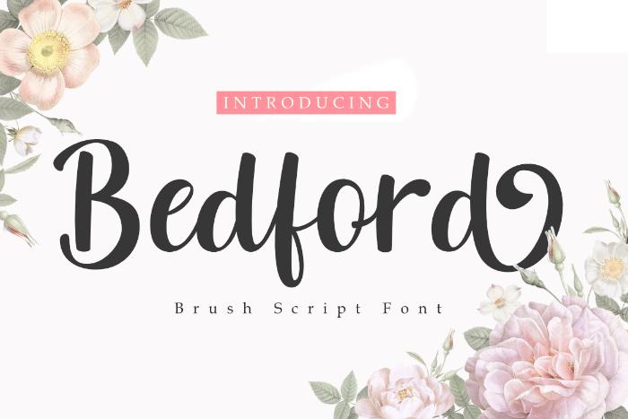 Bedford Font poster