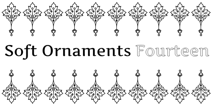 Soft Ornaments Fourteen Font poster