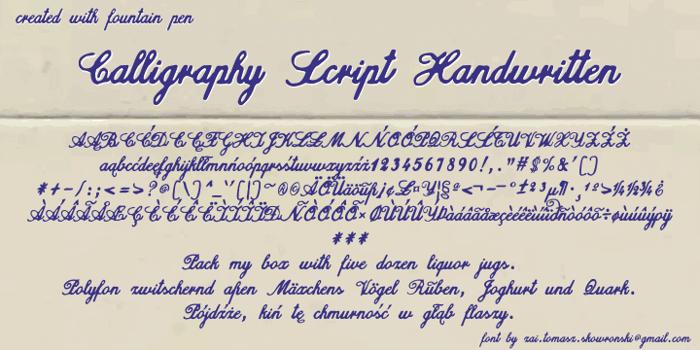 Calligraphy Script Handwritten Font poster