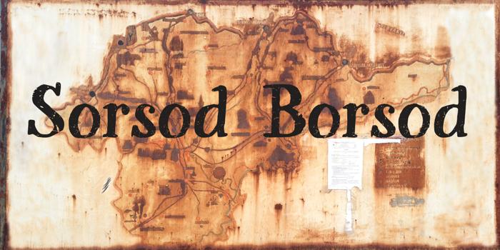 Sorsod Borsod Demo Font poster