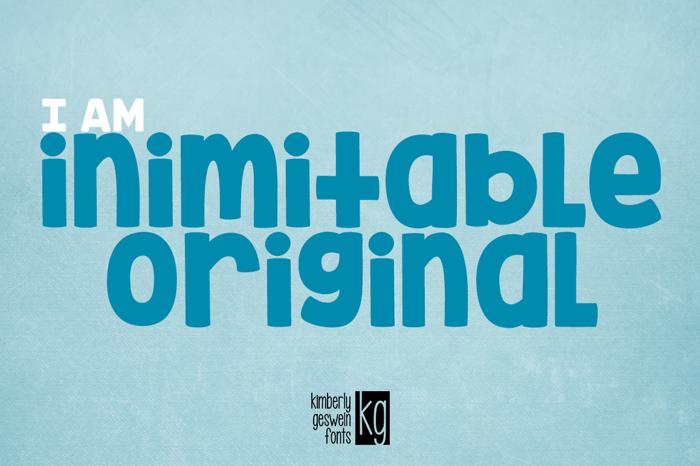 KG Inimitable Original Font poster