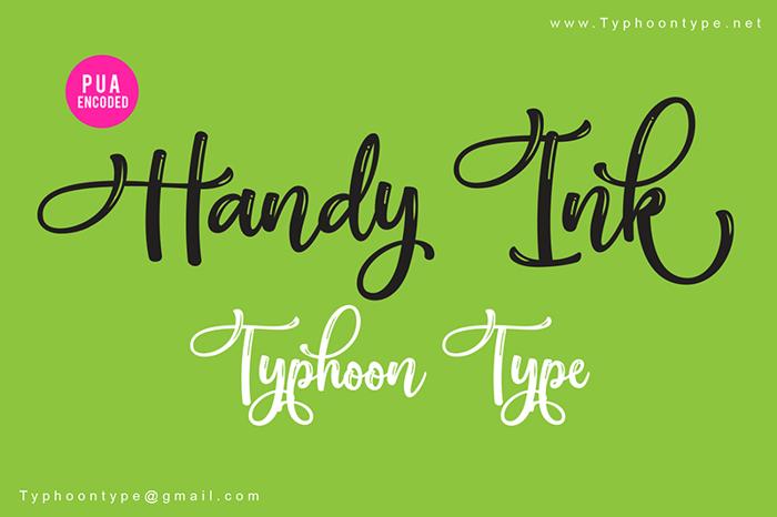 Handy Ink Font poster