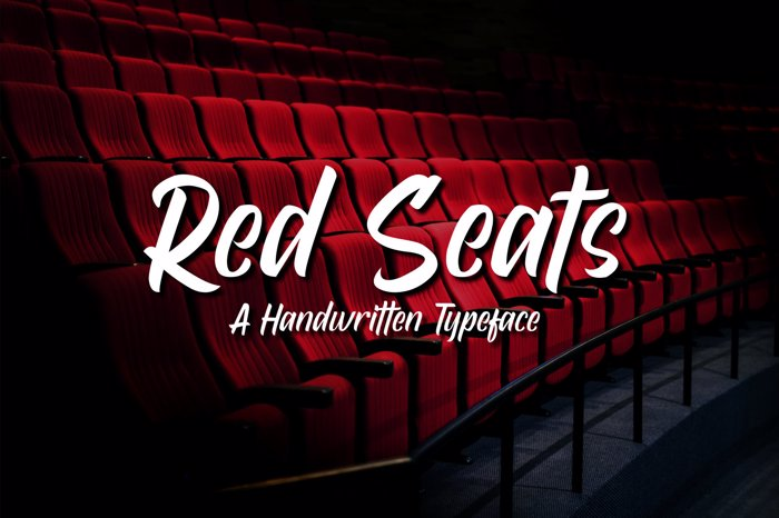 Red Seats Font poster