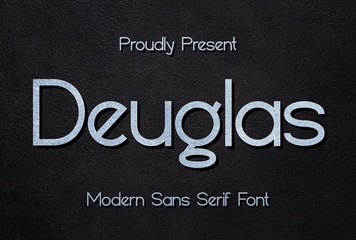 Deuglas Font poster