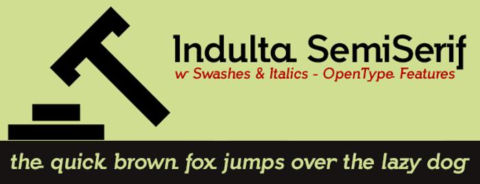 Indulta SemiSerif Font poster