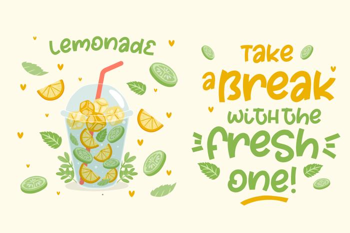 Fresh Lemon Font poster