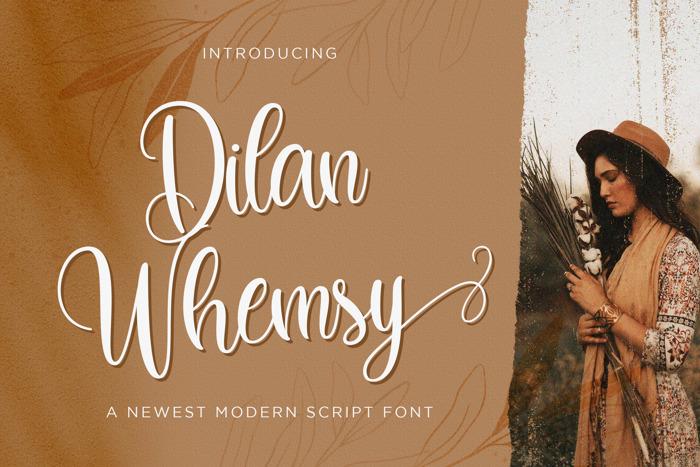 Dilan Whemsy Font poster