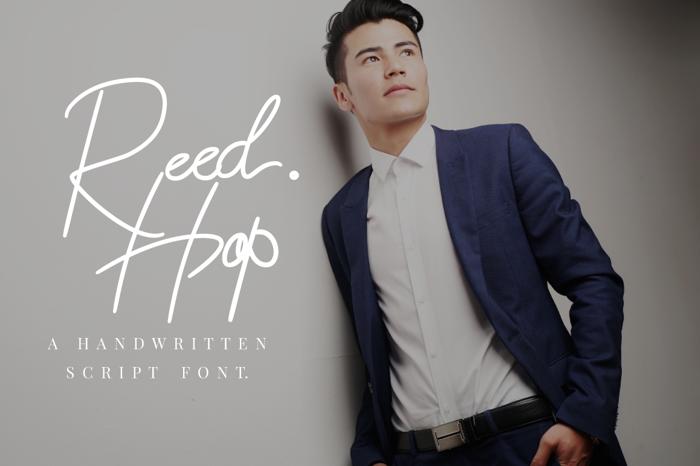 Reed Hop Font poster