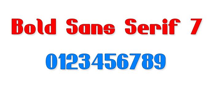 Bold Sans Serif 7 Font