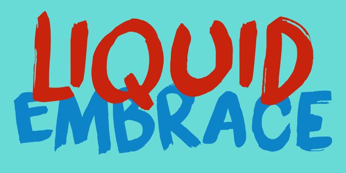 DK Liquid Embrace Font poster