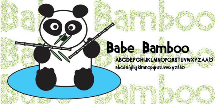 Babe Bamboo Font poster
