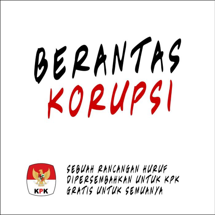 Berantas Korupsi Font poster
