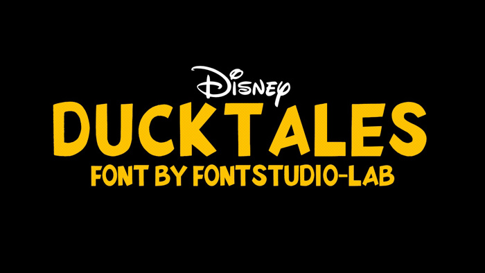 DuckTales Font poster
