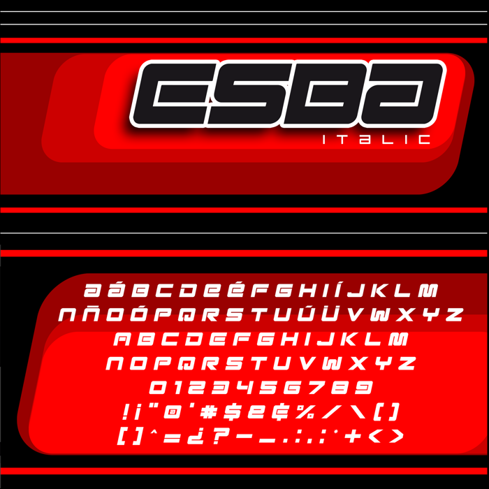 Esba - Italic Font poster
