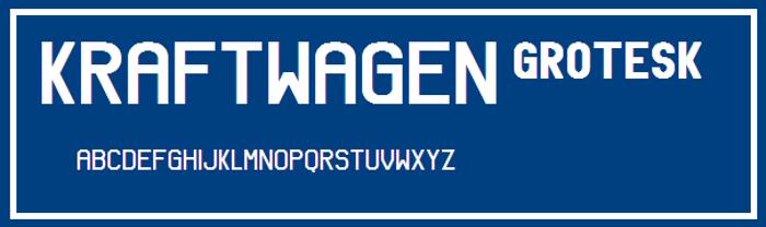 Kraftwagen-Grotesk NBP Font