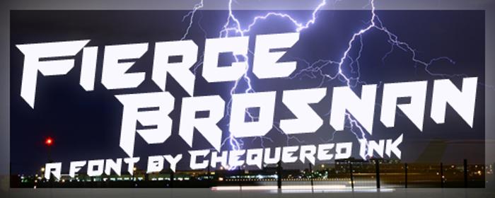 Fierce Brosnan Font poster