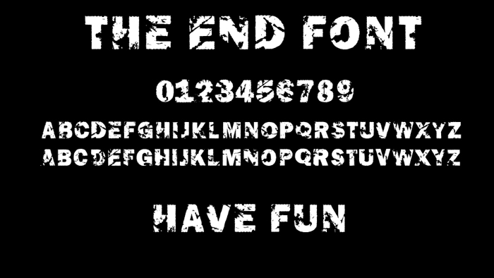 The End Font poster