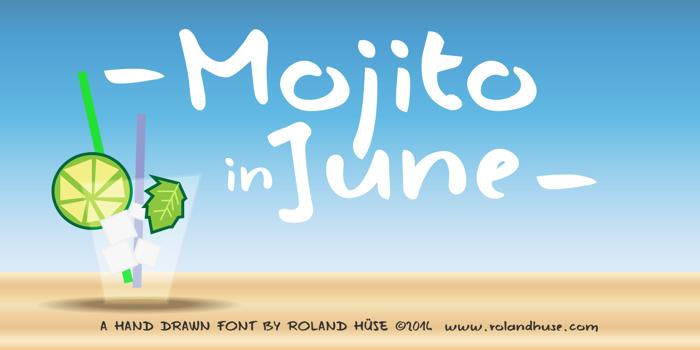Mojito in June Font poster