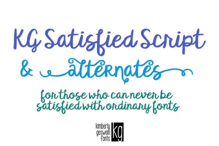 KG Satisfied Script Font poster