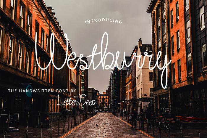 Westburry Font poster