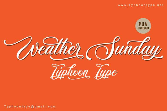 Weather Sunday Font poster