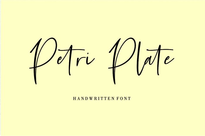 Petri Plate Font