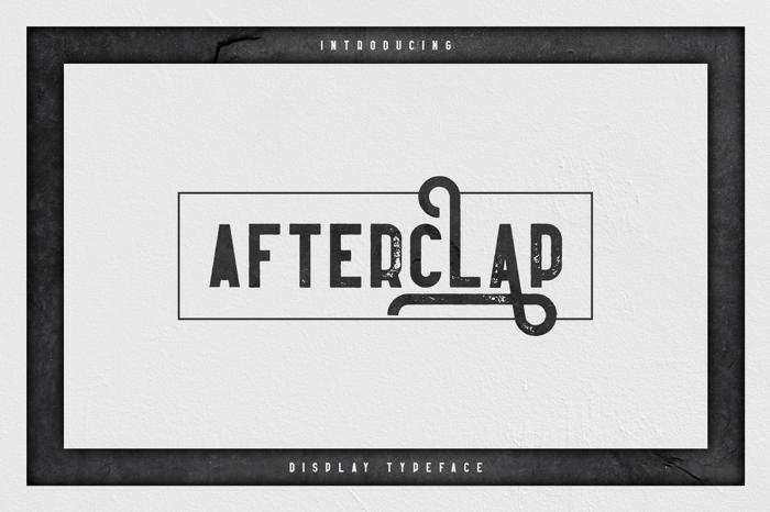Afterclap Font poster