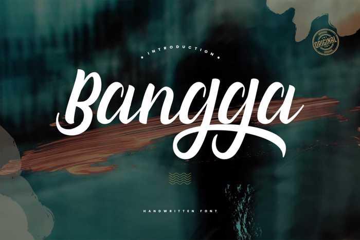 Bangga Font poster