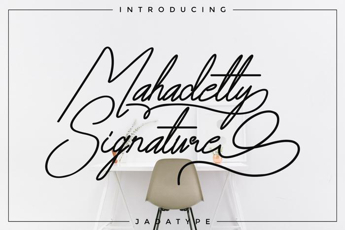Mahadetty Font poster