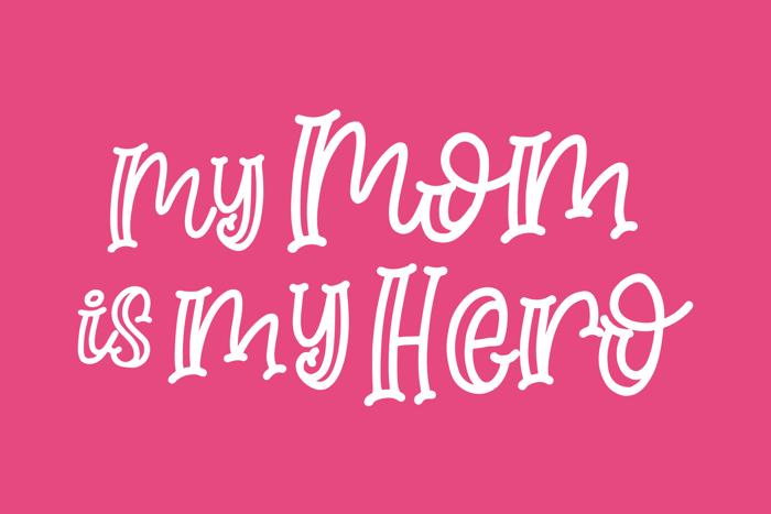 Moms Crafter Font poster