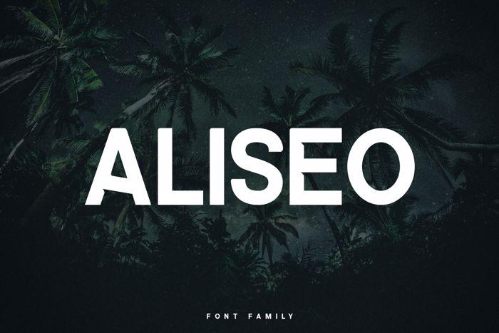 ALISEO Font poster