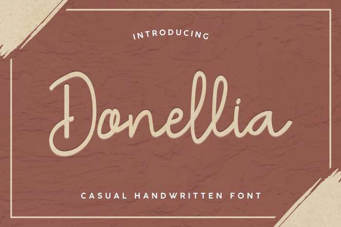 Donellia Demo Font poster
