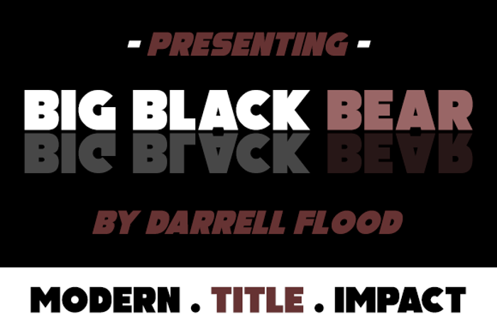 Big Black Bear Font poster