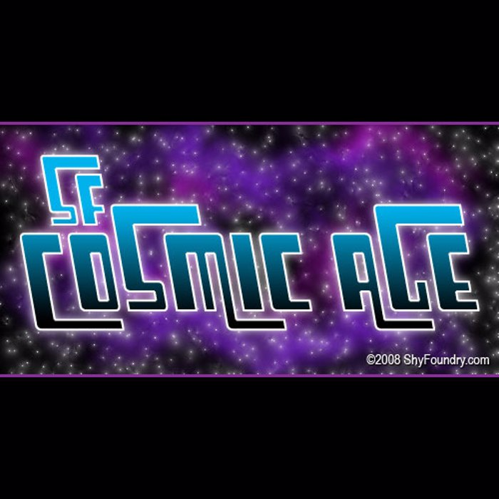 SF Cosmic Age Font poster