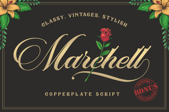 Marchell Font poster