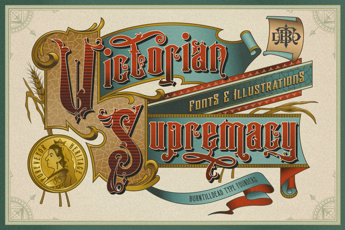 Victorian Supremacy Demo Ver. Font poster