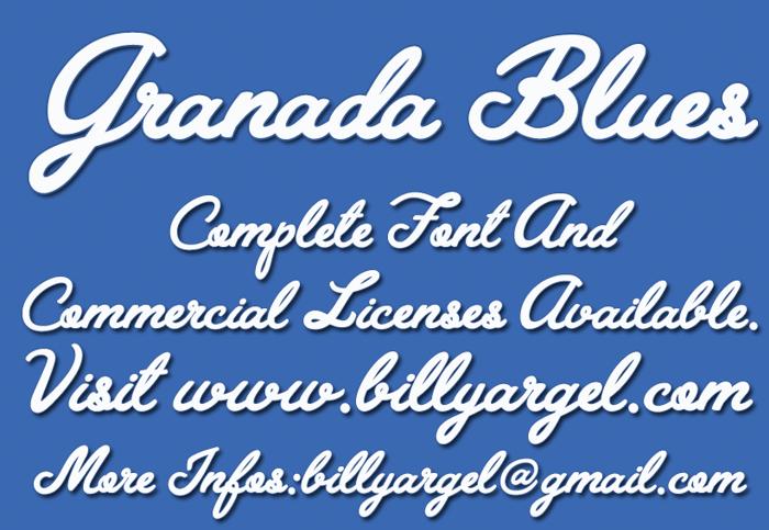 Granada Blues Font poster