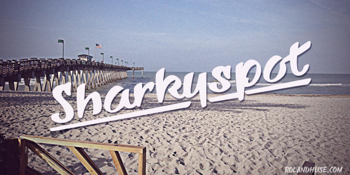 Sharkyspot Font poster