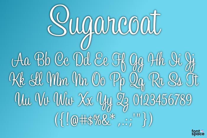 BB Sugarcoat Font poster