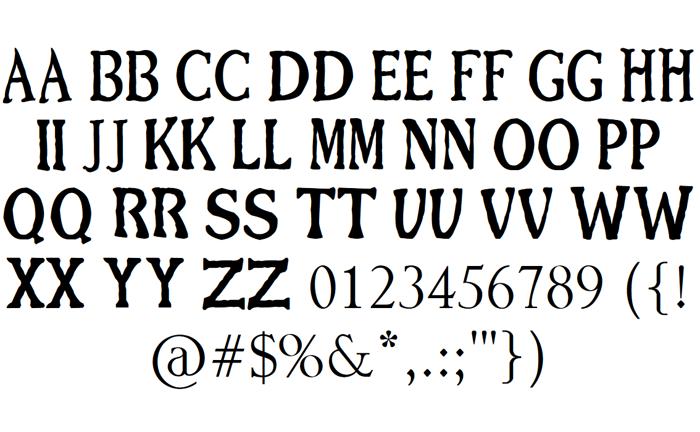 BFG Font poster